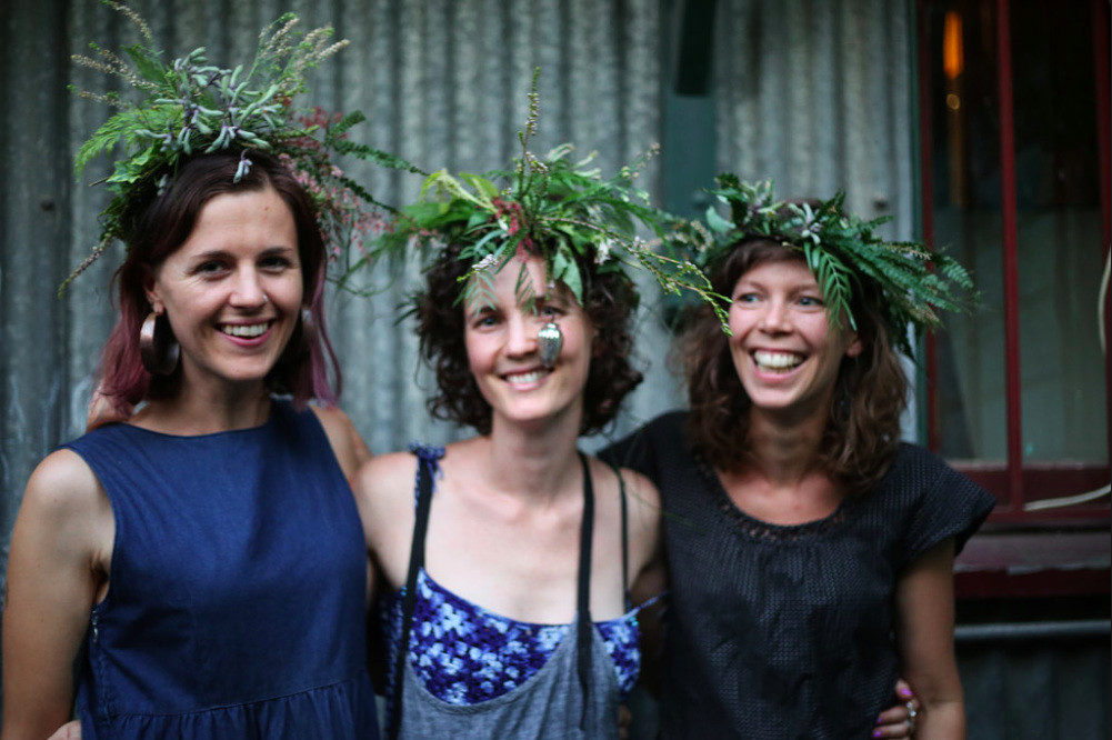 Knack Merchant floral crowns workshop. THE MUSE SPOKE | Emily Devers